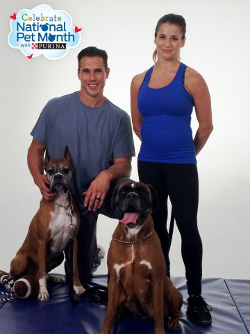 Purina and Celebrity Couple Brady Quinn and Alicia Sacramone Quinn Issue Challenge to Roll Over Pet  ...
