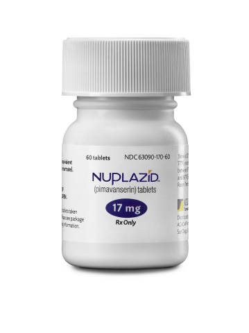 NUPLAZID™ (pimavanserin) bottle (Photo: Business Wire)