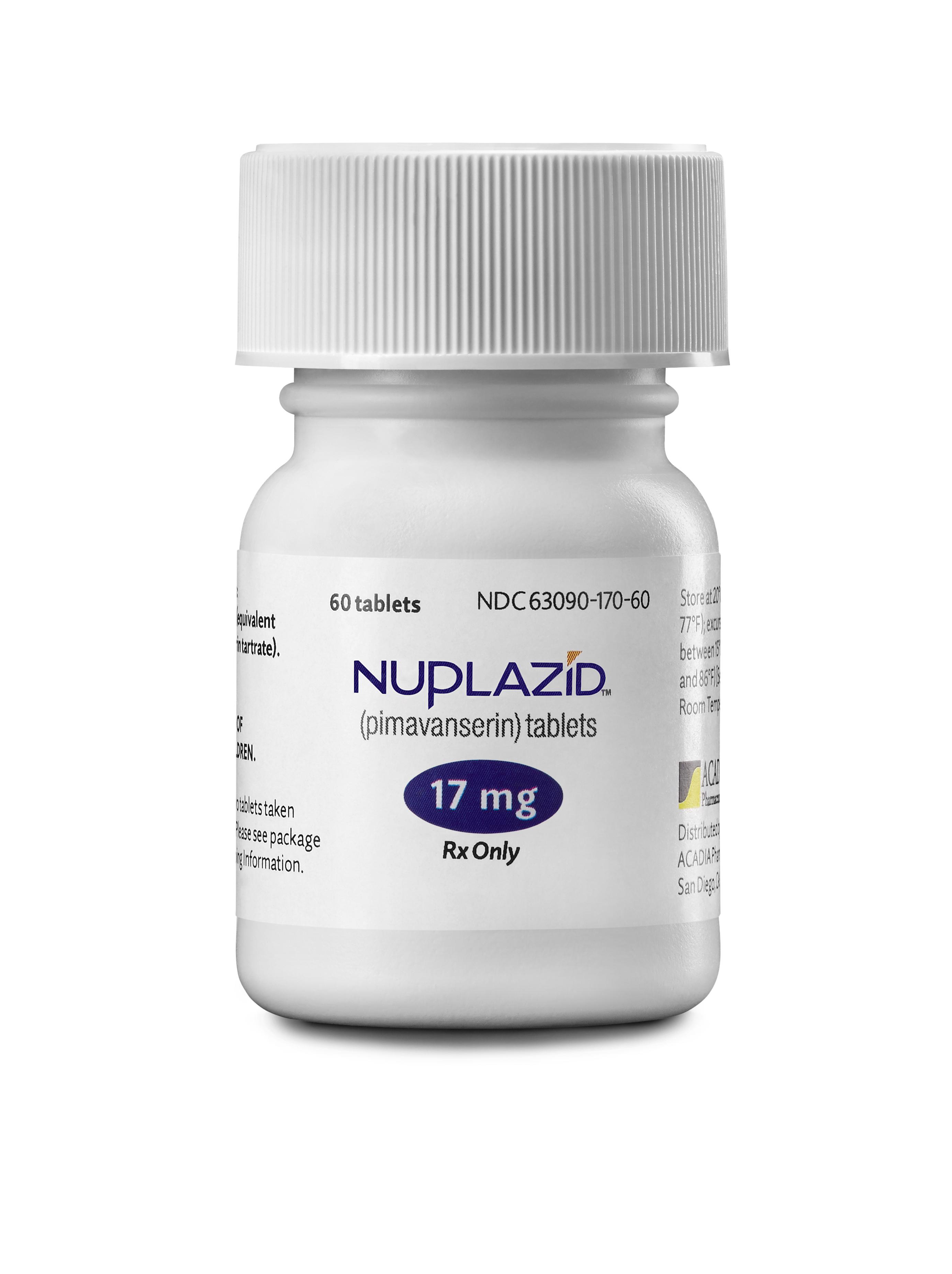 NUPLAZID™ (pimavanserin) bottle (Photo: Business Wire)