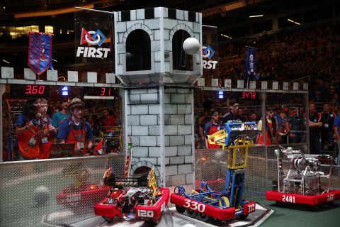 This week, more than 20,000 students from around the globe traveled to St. Louis, putting their engineering skills to the test at the annual FIRST® Championship. (Photo: Business Wire)