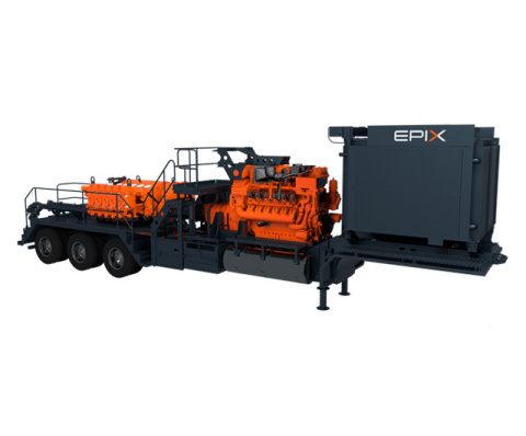 With engine, transmission, and pump components designed to work together, EPIX's first product offering, a purpose-built power system, will optimize longevity and performance, while lowering total cost ownership for operators during well completion operations.  (Photo: Business Wire)