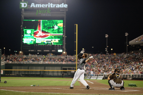 University of North Dakota's Jeff Campbell swings his way to the 2015 TD Ameritrade College Home Run Derby Championship. (Photo: TD Ameritrade)