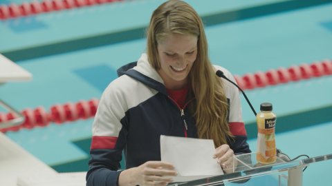 Olympian Missy Franklin debuts in new Minute Maid campaign creative (Photo: Business Wire)