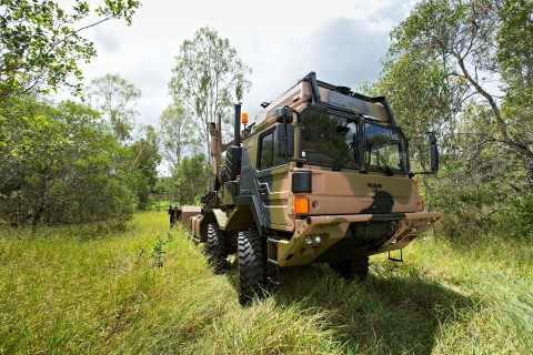 Axalta's Camouflage APAS certified coatings have been scientifically formulated to meet the rigorous demands of Australian Defence vehicles. Image courtesy of Rheinmetall MAN Military Vehicles Australia.