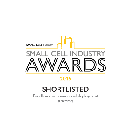 The Small Cell Forum has named a CommScope S1000 small cell project as a finalist in the category of Excellence in Commercial Deployment (Enterprise) for the Small Cell Forum Industry Awards 2016. (Graphic: Business Wire)
