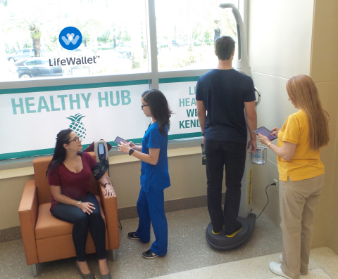 With the LifeWallet's™ app-based HealthFluence ecosystem, healthcare providers can quickly and inexpensively set up a 'healthy hub' to provide individuals with their Life's Simple 7® score — an instant 'snapshot' of their health — in a matter of minutes. The Miami, Florida-based healthcare technology company is expected to release HealthFluence to providers by the end of 2016. (Photo: Business Wire)