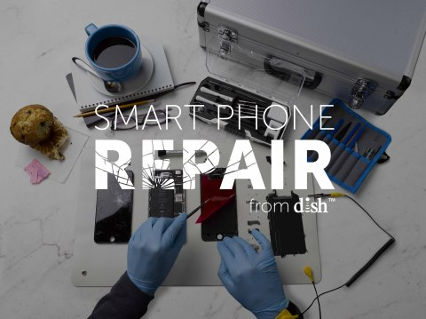 DISH Smart Phone Repair at the coffee shop (Photo: Business Wire)