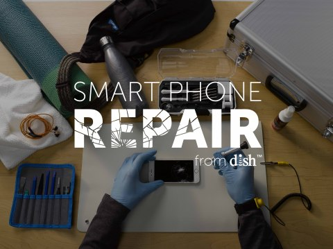 DISH Smart Phone Repair at the gym (Photo: Business Wire)