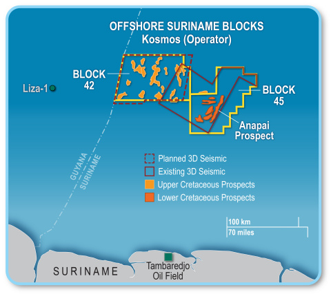 Offshore Suriname acreage position (Graphic: Business Wire)