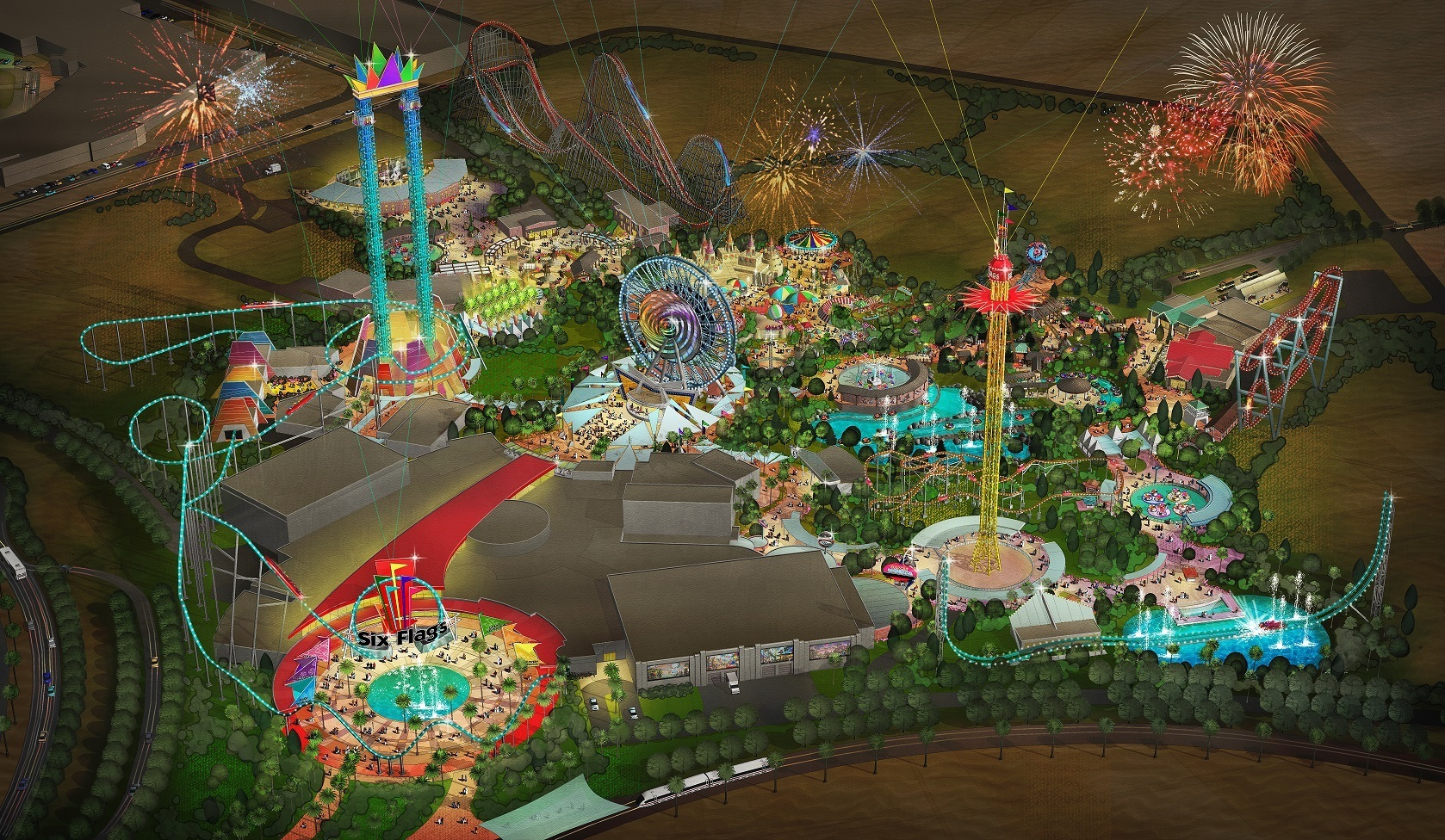 Six Flags Dubai will have 27 rides and attractions throughout the intricately themed park that will appeal to thrill-seekers of all ages, including world-record breaking roller coasters, water slides, shows and a variety of food offerings. (Photo: Business Wire)