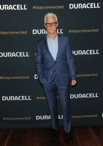 "Actor John Slattery attends the premiere of Duracell's new film, ""Stay Connected,"" that shines a lig ..."
