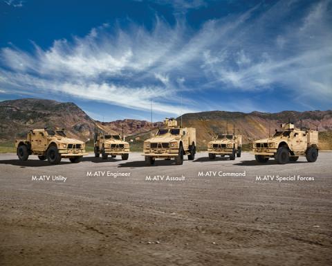 The Oshkosh M-ATV Family of Vehicles defines performance for MRAP class vehicles. (Photo: Business W ...