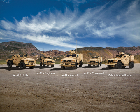The Oshkosh M-ATV Family of Vehicles defines performance for MRAP class vehicles. (Photo: Business Wire)