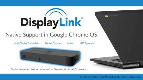 DisplayLink Announces Native Support in Google Chrome OS and Launches at Interop 2016 Showcasing Dell and HP Chromebooks (Photo: Business Wire)