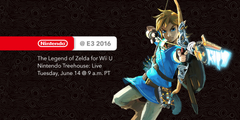 Nintendo's kickoff to the E3 show happens at 9 a.m. PT Tuesday, June 14, when Nintendo of America President and COO Reggie Fils-Aime introduces Nintendo Treehouse: Live, which will be dedicated to a day of live-streamed gameplay of The Legend of Zelda. (Graphic: Business Wire)