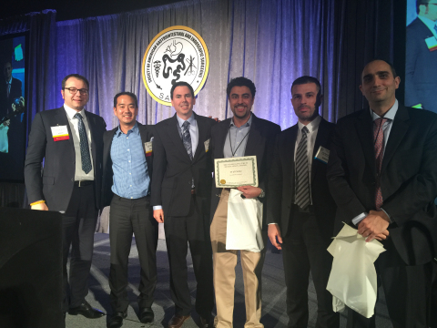 Allurion Co-Founder and Chief Scientific Officer Dr. Shantanu Gaur accepts SAGES Award for Elipse (Photo: Business Wire)
