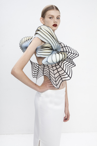 Stratasys 3D printed fashion piece, designed by Noa Raviv, produced on Stratasys' Objet500 Connex Mu ...