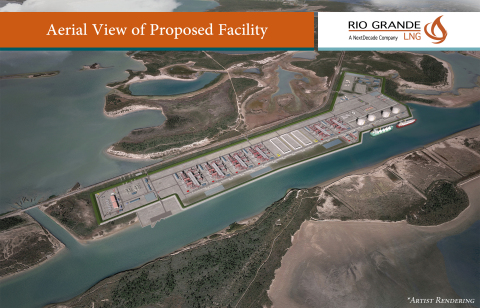 Rendering of NextDecade's proposed Rio Grande LNG project (Graphic: Business Wire)