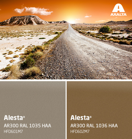 RAL 1035-Pearl Beige and RAL 1036-Pearl Gold combine excellent color retention with weatherability. (Photo: Axalta)
