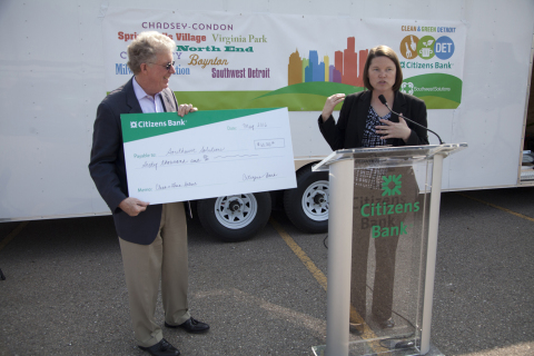 Citizens Bank and Southwest Solutions Launch Clean & Green Detroit Program (Photo: Business Wire).