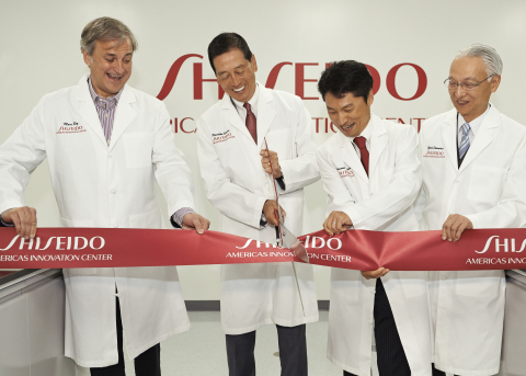 From left to right: Marc Rey, President & CEO, Shiseido Americas; Masahiko Uotani, President & Group CEO, Shiseido Co. Ltd.; Katsunori Yoshida, Ph.D., Executive Vice President, Americas Innovation Center; Yoichi Shimatani, Chief Research & Development Officer, Shiseido Co. Ltd.  (Photo: Business Wire)