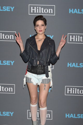 TOKYO, JAPAN - MAY 04: Halsey performed for fans and Hilton HHonors members on Wednesday, May 4, 201 ...