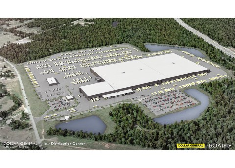 Drawing of Future Dollar General Distribution Center - Jackson, GA (Photo: Business Wire)