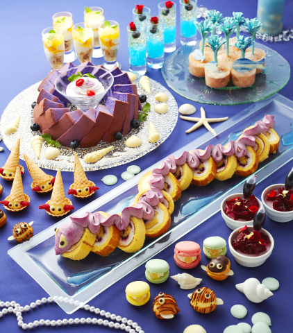 "Keio Plaza Hotel Tokyo offers ""Little Mermaid Dessert Buffet,"" introducing artistic desserts representing characters from the themes of the ocean, sea creatures and summer. (Photo: Business Wire)"