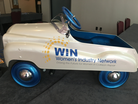 WIN Pedal Car painted by students from Herndon Career Center. (Photo: Axalta)