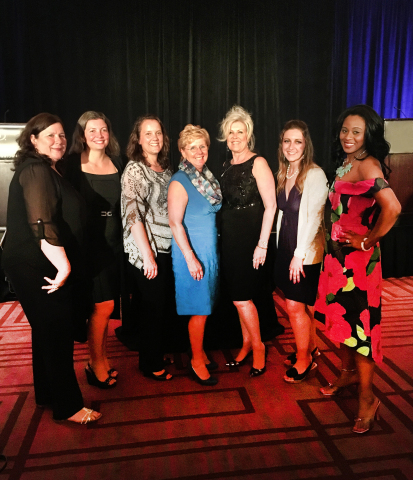 Axalta WIN members at Gala pictured left to right: Debbie Menz, Patricia Morschel, Tina Decamp, Petra Schroeder, Erin Tallant, Venessa Divito and Lisa Miree-Luke (Photo: Axalta)