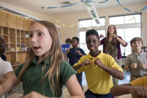 Students in over 1,100 Tennessee elementary schools are celebrating the incredible milestone of 100 million minutes of physical activity documented with GoNoodle this school year. (Photo: Business Wire)