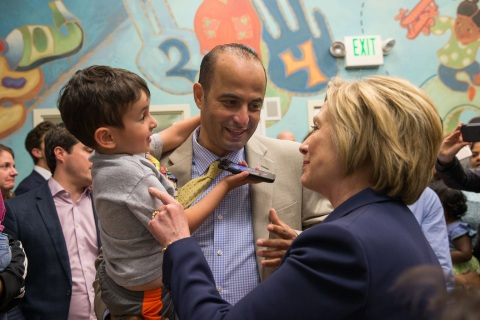 Hillary Clinton Visits Fairfax Va Kindercare Center Business Wire