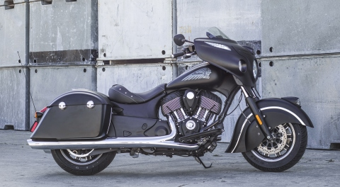Indian Motorcycle delivers pure, premium performance with the all-new Indian(R) Chieftain Dark Horse(R), a blacked-out hard bagger that allows riders to easily customize their ride and hit the highway in head-turning style. MSRP starting at $21,999 (US) (Photo: Todd Williams/Indian Motorcycle Company)