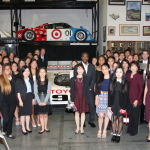Toyota executives and scholarship recipients gather for an awards ceremony at the Toyota Automobile Museum on May 10, 2016. (Photo: Business Wire)