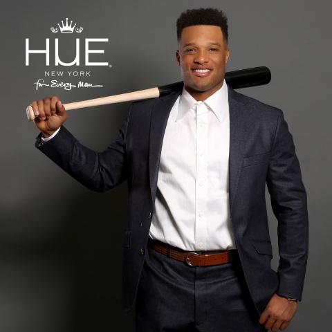 Major League Baseball player and HUE For Every Man Brand Ambassador, Robinson Cano (Photo: Business Wire)