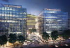 Carr Properties broke ground on Midtown Center, an 875,000 square foot, 14-story, LEED Gold certified, trophy office building in the heart of Washington, D.C. (Photo: Business Wire)