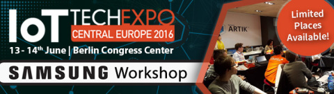Exclusive Samsung Workshop to be held within the IoT Tech Expo in Berlin on the 13th June 2016 (Phot ...