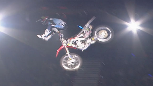 Travis Pastrana, Josh Sheehan and Gregg Duffy of Nitro Circus Live all landed incredible FMX world firsts at Brisbane, Australia Show on Saturday May 14, 2016