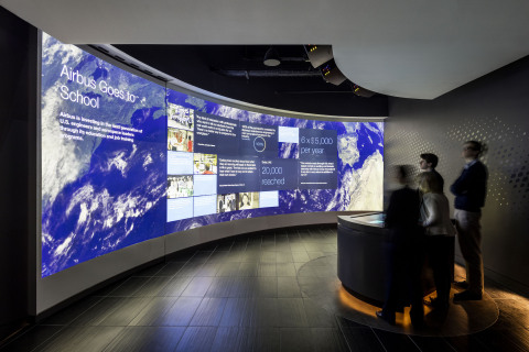 Hornall Anderson partners with Airbus to create a unique experience center in Washington, DC, highlighting their presence in North America (Photo: Business Wire)