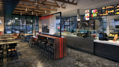 Urban Edge: This design represents an eclectic mix of international and street style done the Taco Bell way. This style is inspired by timeless design married with cutting-edge elements of the urban environment. (Photo: Business Wire)