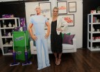 Ashlee Simpson Ross, singer, mom and design enthusiast, joins Swiffer and Mr. Clean, Tuesday, May 17, 2016, in New York, to show how easy it is to achieve and maintain a clean slate when moving.  (Diane Bondareff/Invision for Procter & Gamble/AP Images)