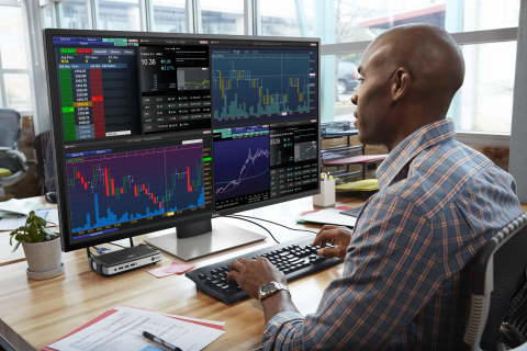 Dell announced the release of its Dell 43 Multi-Client Monitor (P4317Q), the company's first multi-client display designed specifically for financial institutions, trading floors and software developers. (Photo: Business Wire)