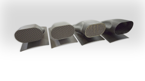 Sacrificial tool used to create a hollow inlet duct by Swift Engineering using Stratasys' new ST-130 ...