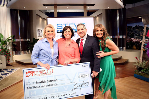 "Sparkle Screen co-founders Dianna Akers and Meredith Madsen named ""The Next Big Success"" on the Steve Harvey Show airing on May 19th, 2016. (Photo: Business Wire)"