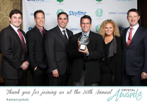 The Credera team at the 2016 Crystal Awards in Houston, Texas (Photo: Business Wire)