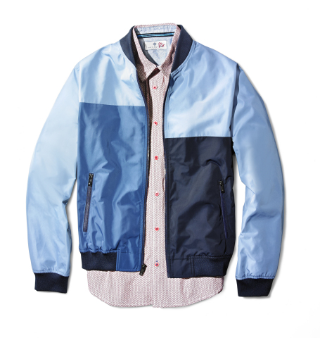 This summer, Macy's & Ryan Seacrest launch exclusive, limited-edition collection: Ryan Seacrest Distinction Rio; Color-Blocked Windbreaker, $135; Short-Sleeved Printed Shirt, $60; at select Macy's stores and macys.com (Photo: Business Wire)
