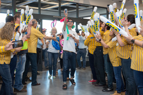 The first customers are greeted by IKEA Las Vegas coworkers in celebration of the store's grand opening this morning at 9 a.m. PDT. (Photo: Business Wire)