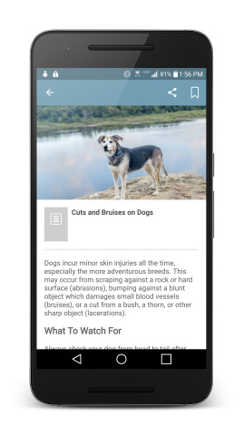 Help for immediate critical situations, as well as answers to common questions, is just a click away with askPETMD, a new mobile app available now from the team behind PETMD, the world's largest digital resource for pet health and wellness information. (Photo: Business Wire)