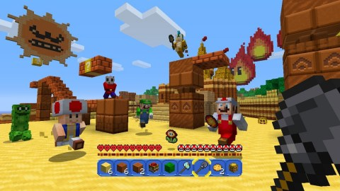 Nintendo is partnering with Mojang and Microsoft to bring the imaginative worlds of the Super Mario series and Minecraft together as a free update for those who own the Minecraft: Wii U Edition game. (Graphic: Business Wire)