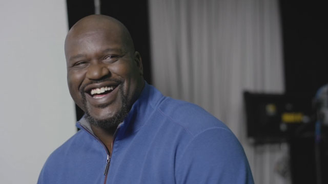 "NBA legend Shaquille O'Neal enjoys some light-hearted moments during his first commercial shoot for The General, a fast-growing auto insurer that is teaming with O'Neal as its first brand ambassador. ""Shaq's authentic, friendly and welcoming nature aligns with our company and resonates with the customers we serve,"" says John Hollar, chief operating officer and president of The General."